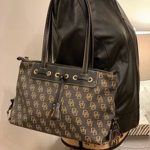 Dooney & Bourke Leather Canvas Tote